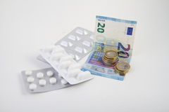Blister of medicines Stock Image