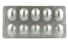 Blister o bolla di alluminio di alluminio di alluminio Fotografia Stock