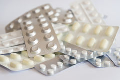 Blister packs of medicines and pills Royalty Free Stock Photo