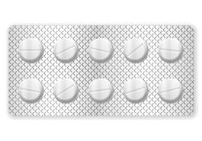 Blister pills Stock Photo