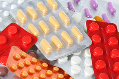 Blisters of pills Royalty Free Stock Images