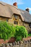 blisworthstugadetalj thatched england royaltyfria bilder