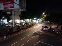 Blitar. Pemandangan jalanan di Blitar waktu malam hari Royalty Free Stock Image