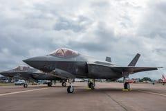 Blitz2 Â F-35 auf statischer Anzeige Lizenzfreie Stockfotos