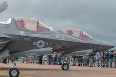 Blitz2 Â F-35 auf statischer Anzeige, Seitenansicht Lizenzfreie Stockbilder