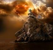 Blitz über dem Schloss Lizenzfreies Stockfoto