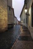 Blitz über leeren Straßen Lizenzfreies Stockfoto