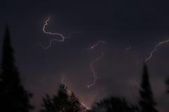Blitz über Nord-Minnesota Lizenzfreie Stockbilder