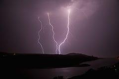 Blitz über Quinera Stockfoto