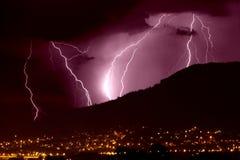 Blitz über Stadt Lizenzfreie Stockbilder