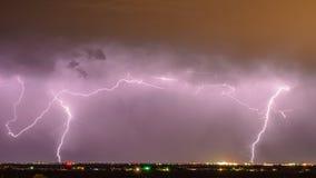 Blitz über Stadt Lizenzfreies Stockbild