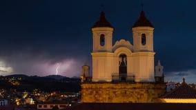 Blitz über Sucre Stockfotos