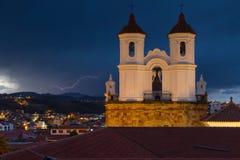Blitz über Sucre Lizenzfreie Stockfotos