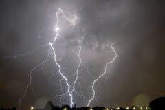 Blitz über Wien Lizenzfreies Stockbild