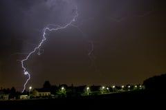 Blitz über Wien Stockbilder