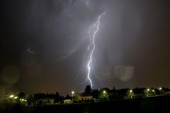 Blitz über Wien Stockfoto
