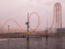Blitz-Achterbahn - Coney Island Lizenzfreie Stockfotografie