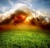 Blitz auf dem Gebiet Stockbilder