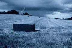 Blitz auf dem Hügel Lizenzfreies Stockfoto