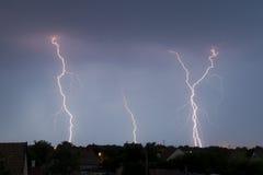Blitz auf dem Himmel Stockbilder