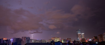 Blitz auf dem Horizont Lizenzfreies Stockbild