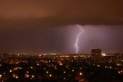 Blitz auf dem Horizont Lizenzfreie Stockbilder
