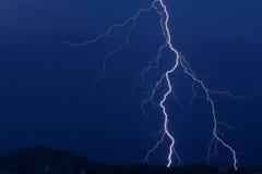 Blitz auf dem Horizont Stockbilder