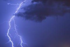 Blitz auf dem orizon Stockfoto