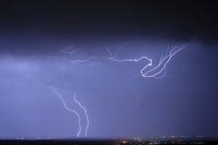 Blitz auf dem orizon Stockfotos