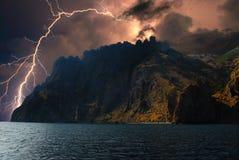 Blitz auf den Hügeln, Krim Stockfotos