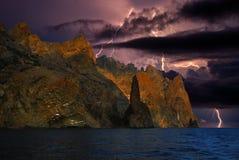 Blitz auf den Hügeln, Krim Lizenzfreies Stockbild