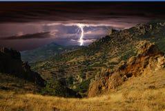 Blitz auf den Hügeln, Krim Stockbild