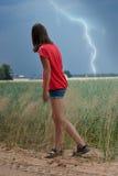 Blitz auf einem Gebiet Lizenzfreie Stockfotografie