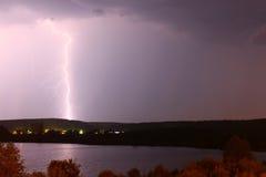Blitz auf einem Hintergrund Lizenzfreies Stockbild