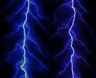 Blitz auf schwarzem Hintergrund Stockbild