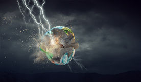 Blitz-auffallender Erdplanet Stockfotos