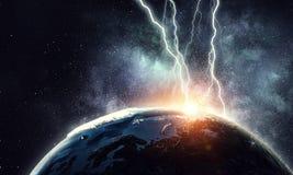 Blitz-auffallender Erdplanet Stockfotografie