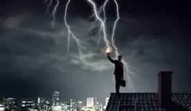 Blitz auffallender Smartphone Gemischte Medien Lizenzfreies Stockfoto