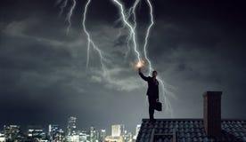 Blitz auffallender Smartphone Gemischte Medien Lizenzfreie Stockbilder