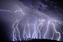 Blitz über den Rincon Bergen Lizenzfreie Stockbilder