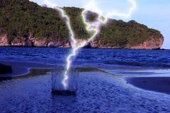 Blitz in das VerbreitungsMeerwasser Lizenzfreies Stockbild