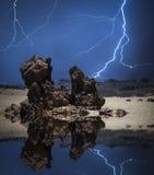 Blitz in den Bergen Stockfotografie