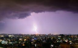 Blitz, der Kathmandu schlägt Lizenzfreie Stockfotos