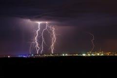 Blitz in der Nacht Lizenzfreies Stockbild