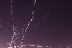 Blitz in der Nacht Stockbilder