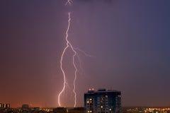 Blitz in der Stadt Stockbilder