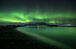 Blitz des Polarlichts Lizenzfreie Stockbilder