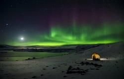 Blitz des Polarlichts Stockbild