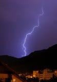 Blitz in einem Sturm Stockbild
