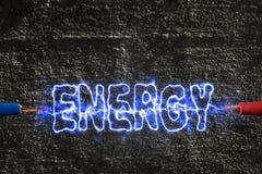Blitz erzeugte Energie Stockbilder